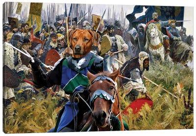 Rhodesian Ridgeback Win Or Die ! Canvas Art Print