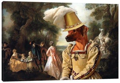 Rhodesian Ridgeback Castle Park Canvas Art Print