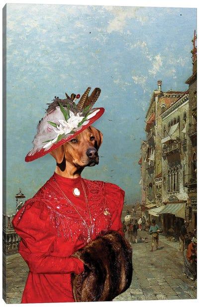 Rhodesian Ridgeback Venice Riva Canvas Art Print