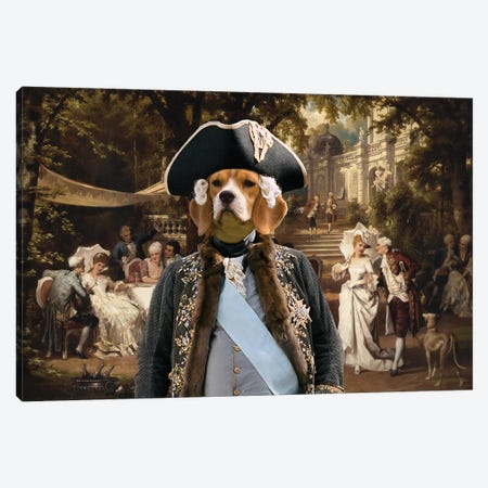 Beagle The Garden Party Canvas Print #NDG659} by Nobility Dogs Canvas Art Print