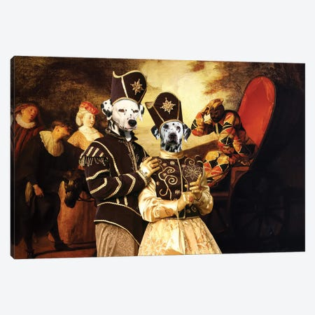 Dalmatian Dog Harlequin Emperor In The Moon Canvas Print #NDG660} by Nobility Dogs Canvas Art
