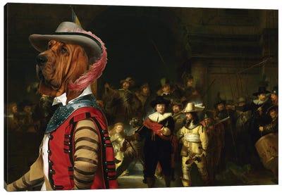 Bloodhound The Night Watch Canvas Art Print
