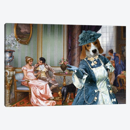 Beagle Admiration Canvas Print #NDG665} by Nobility Dogs Canvas Print