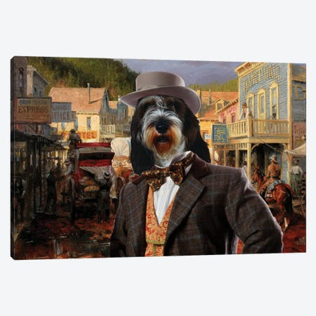 Petit Basset Griffon Vendeen Gold Town Canvas Print #NDG672} by Nobility Dogs Art Print
