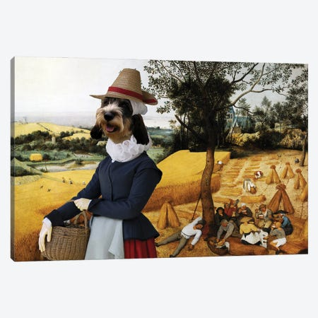 Basset Griffon Vendeen The Harvesters Canvas Print #NDG673} by Nobility Dogs Canvas Art Print