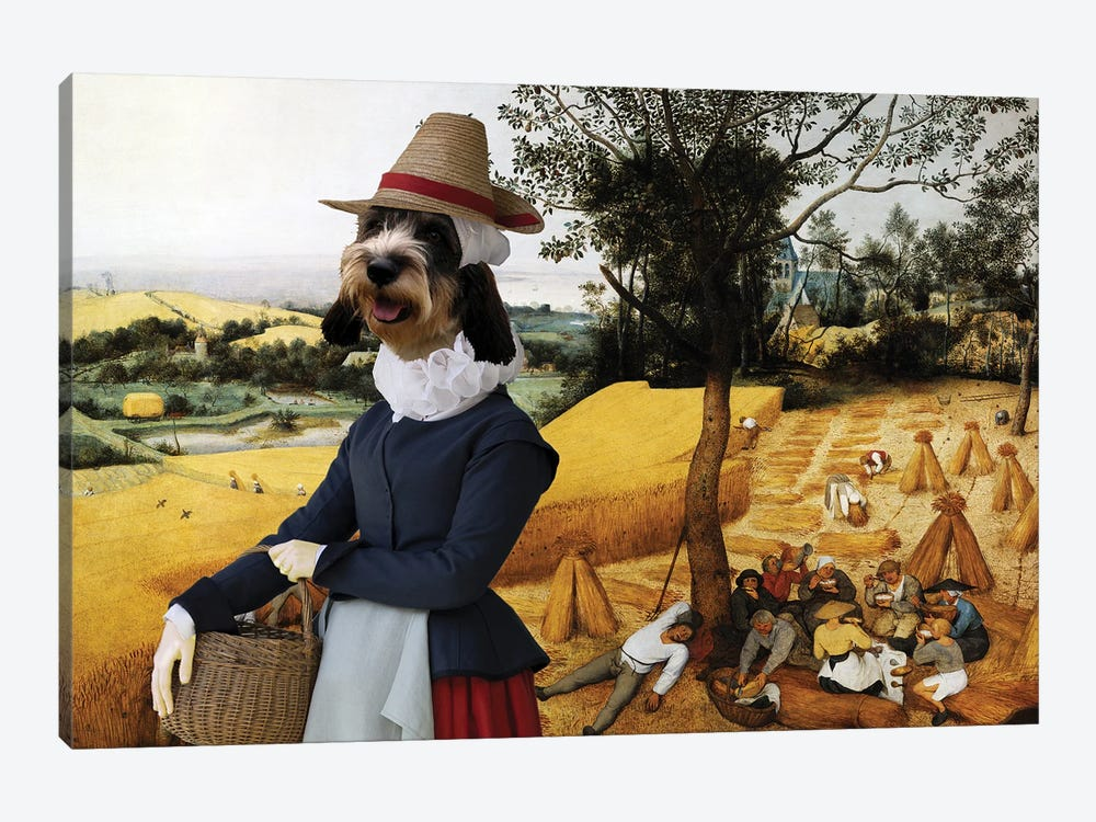 Basset Griffon Vendeen The Harvesters by Nobility Dogs 1-piece Canvas Wall Art