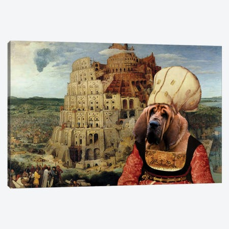 Bloodhound The Tower Of Babel Canvas Print #NDG679} by Nobility Dogs Canvas Print