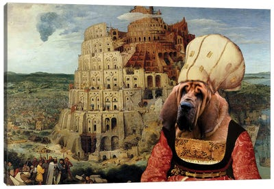 Bloodhound The Tower Of Babel Canvas Art Print