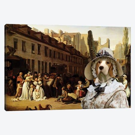 Beagle Bon Voyage Canvas Print #NDG681} by Nobility Dogs Canvas Wall Art
