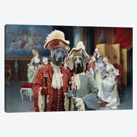 Weimaraner Royal Society Gossip Canvas Print #NDG683} by Nobility Dogs Canvas Artwork