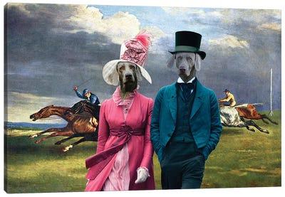 Weimaraner Derby In Epsom Canvas Art Print