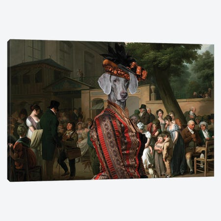 Weimaraner Entrance To The Jardin Turc Canvas Print #NDG686} by Nobility Dogs Canvas Print