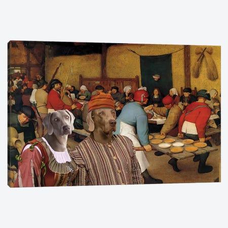 Weimaraner The Wedding Banquet Canvas Print #NDG689} by Nobility Dogs Canvas Artwork