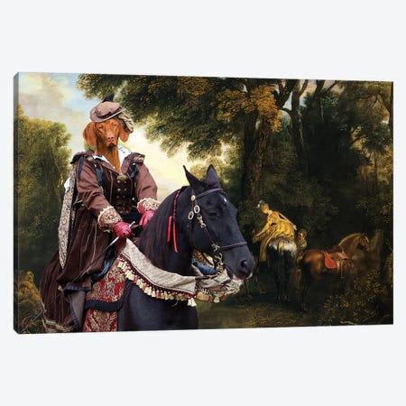 Vizsla Hunting Lady Canvas Print #NDG702} by Nobility Dogs Canvas Art Print