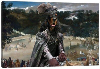 Gordon Setter Philip Iv Hunting Wild Boar Canvas Art Print