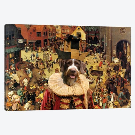 German Wirehaired Pointer The Combat Of Carnival Canvas Print #NDG709} by Nobility Dogs Canvas Print