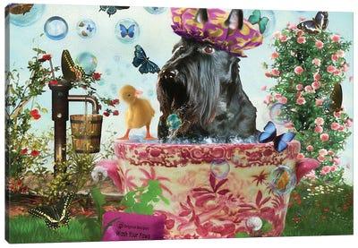 Scottish Terrier Wash Your Paws Canvas Art Print