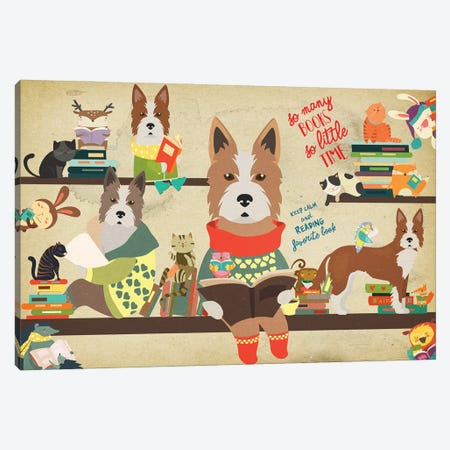 Portuguese Podengo Book Time Canvas Print #NDG723} by Nobility Dogs Canvas Print