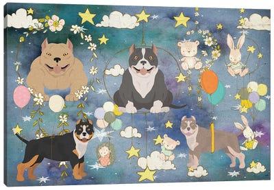 American Bully Good Night Time Canvas Art Print