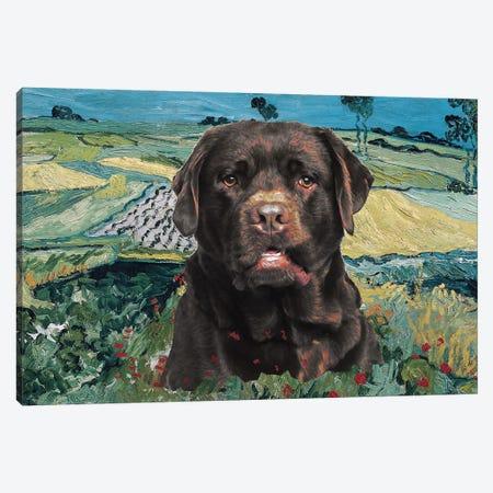 Labrador Retriever The Plain Of Auvers Canvas Print #NDG748} by Nobility Dogs Art Print