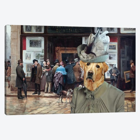 Labrador Retriever Public Exhibition Of Paintings Canvas Print #NDG772} by Nobility Dogs Canvas Artwork
