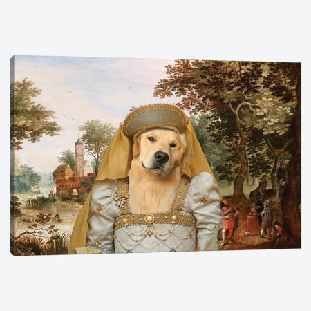Golden Retriever Noble Lady Canvas Print #NDG781} by Nobility Dogs Canvas Print