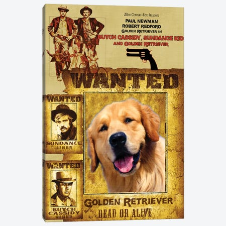 Golden Retriever Butch Cassidy And The Sundance Kid Canvas Print #NDG785} by Nobility Dogs Canvas Artwork