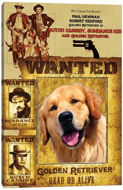Golden Retriever Butch Cassidy And The Sundance Kid Canvas Art Print