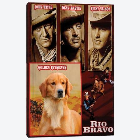 Golden Retriever Rio Bravo Movie Canvas Print #NDG786} by Nobility Dogs Canvas Artwork