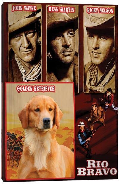 Golden Retriever Rio Bravo Movie Canvas Art Print