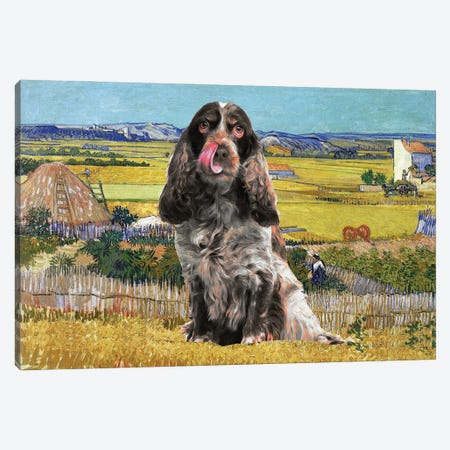 English Cocker Spaniel Harvest At La Crau Canvas Print #NDG853} by Nobility Dogs Art Print