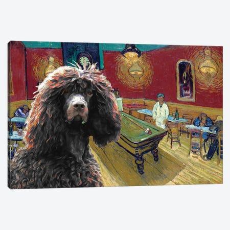 Irish Water Spaniel The Night Café Canvas Print #NDG875} by Nobility Dogs Canvas Art