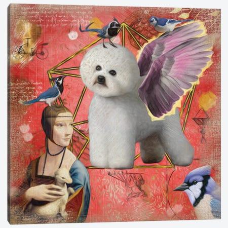 Bichon Frise Angel Da Vinci Canvas Print #NDG8} by Nobility Dogs Canvas Print