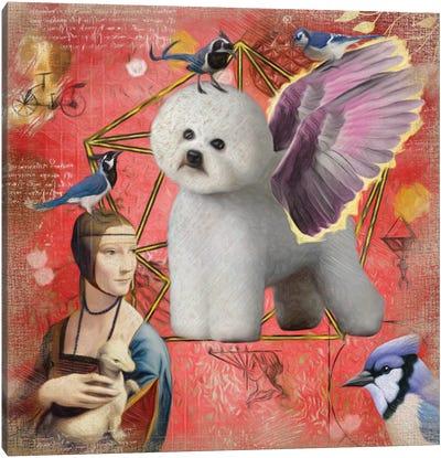 Bichon Frise Angel Da Vinci Canvas Art Print
