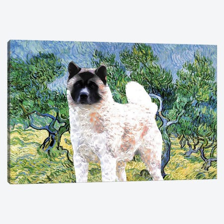 American Akita Olive Grove Canvas Print #NDG902} by Nobility Dogs Canvas Print