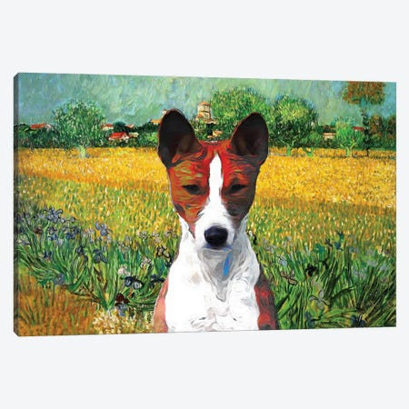 Basenji View Of Arles Canvas Print #NDG918} by Nobility Dogs Canvas Artwork