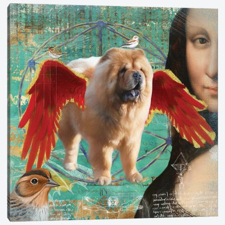 Chow Chow Angel Canvas Print #NDG922} by Nobility Dogs Canvas Art Print
