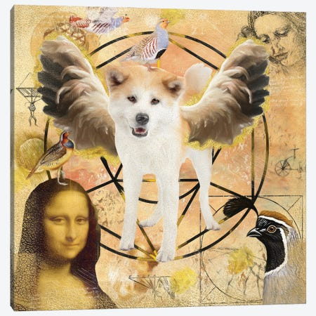 Akita Inu Angel Canvas Print #NDG923} by Nobility Dogs Canvas Print