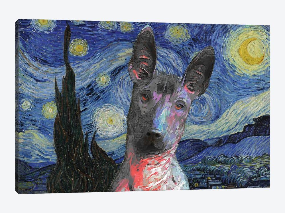 Xoloitzcuintli Starry Night by Nobility Dogs 1-piece Canvas Wall Art