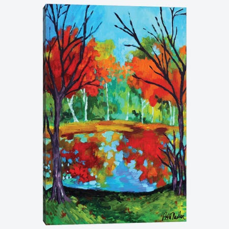 Two Trees Canvas Print #NDL38} by Beth Nadler Canvas Wall Art