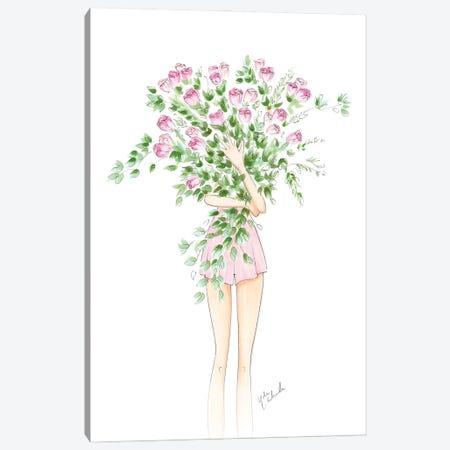 Spring Roses Canvas Print #NDN10} by Nadine de Almeida Canvas Art