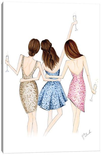 Cheers Trio Canvas Art Print