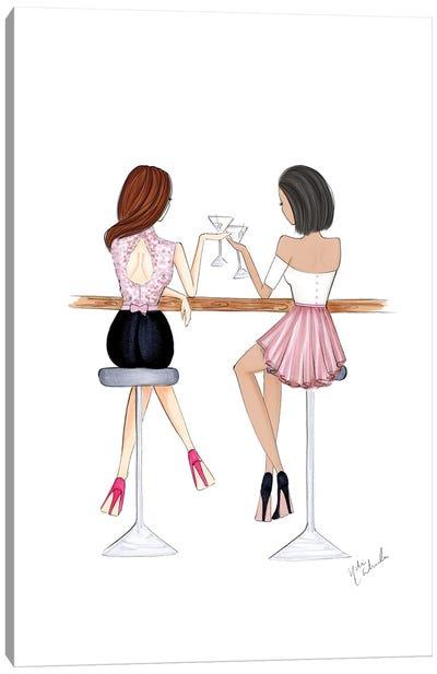 Cocktail Girls Canvas Art Print