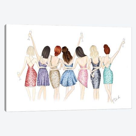 Cheers For 7 Canvas Print #NDN17} by Nadine de Almeida Art Print