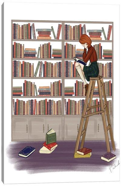 Library Girl Canvas Art Print