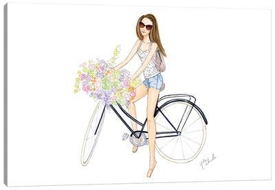 Bicycle Girl Canvas Art Print