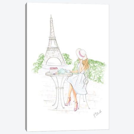 Day In Paris Canvas Print #NDN33} by Nadine de Almeida Canvas Wall Art