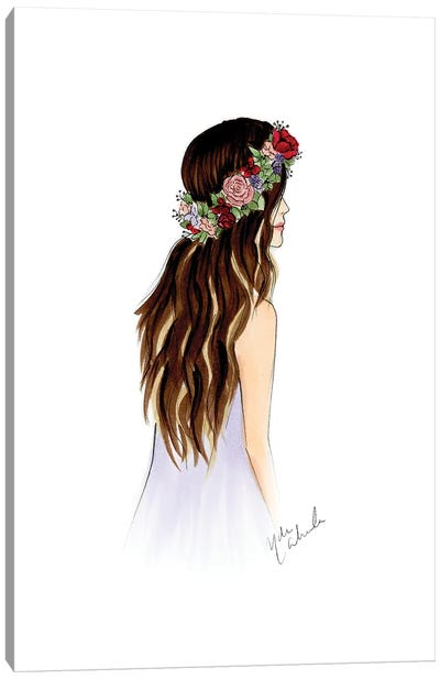 Flora Crown Canvas Art Print
