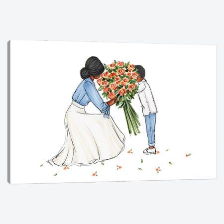 Mom And Son Canvas Print #NDN35} by Nadine de Almeida Canvas Print
