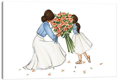 Mom And Daughter Canvas Art Print